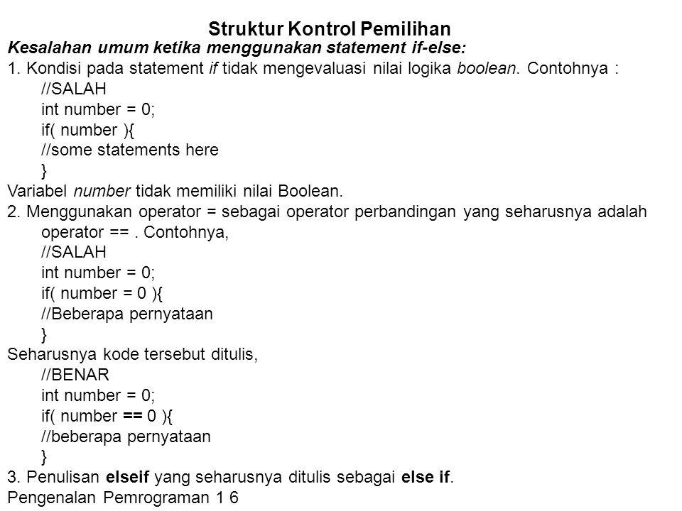 Struktur Kontrol Pemilihan