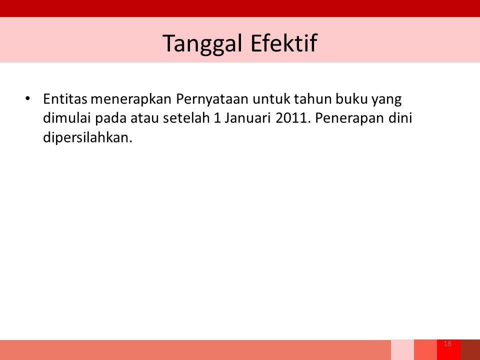 Tanggal Efektif Entitas menerapkan Pernyataan untuk tahun buku yang dimulai pada atau setelah 1 Januari 2011.