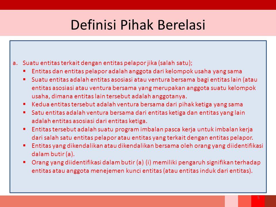 Definisi Pihak Berelasi