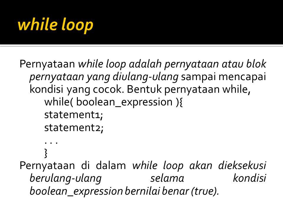 while loop