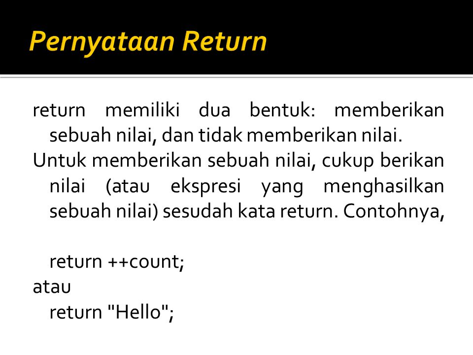 Pernyataan Return