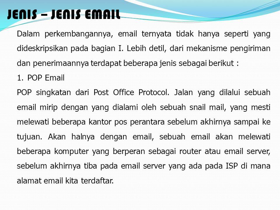 JENIS – JENIS EMAIL