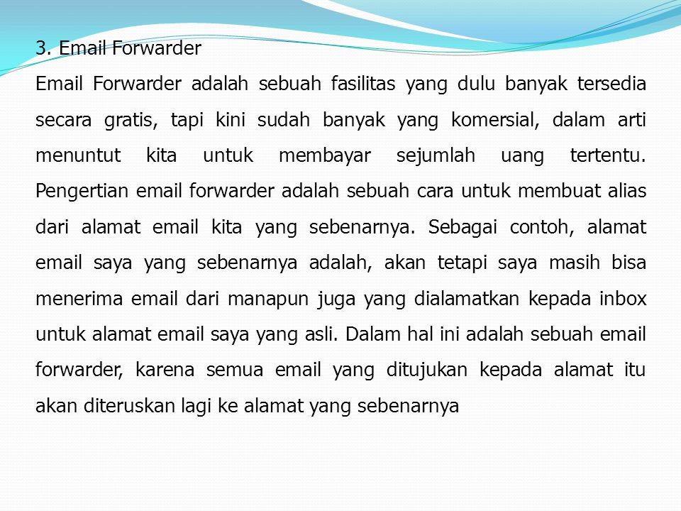 3. Email Forwarder