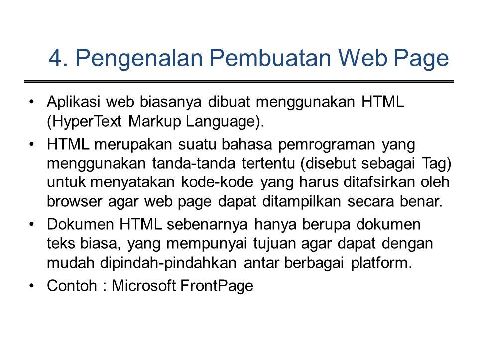 4. Pengenalan Pembuatan Web Page