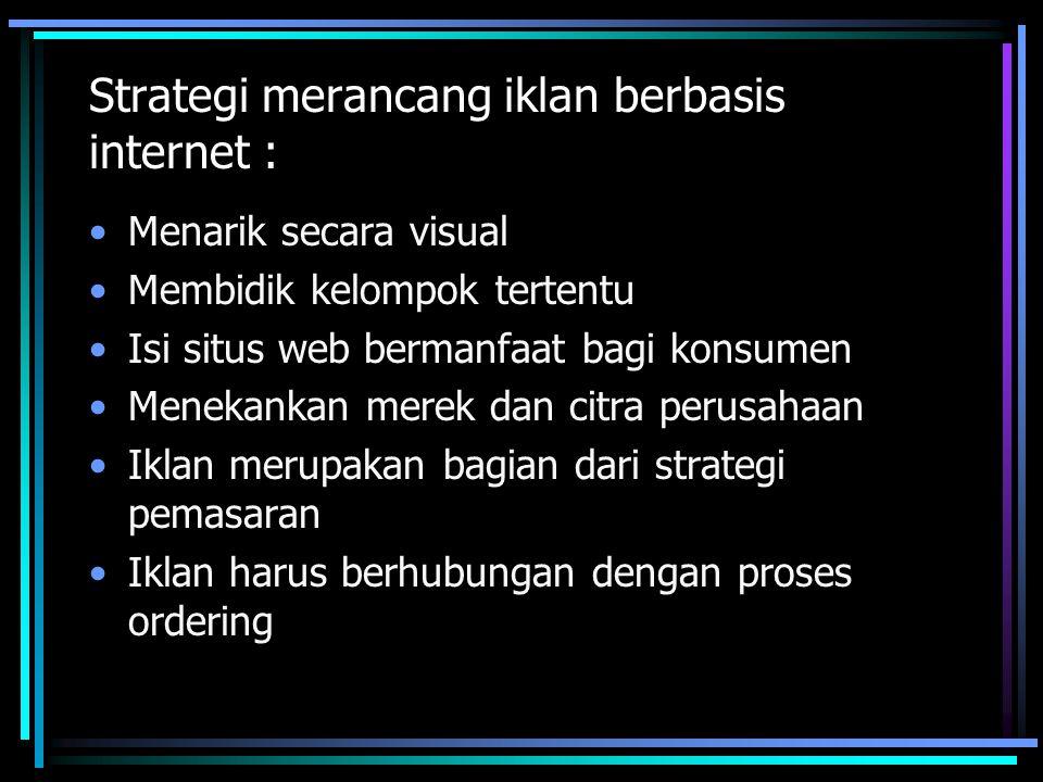 Strategi merancang iklan berbasis internet :