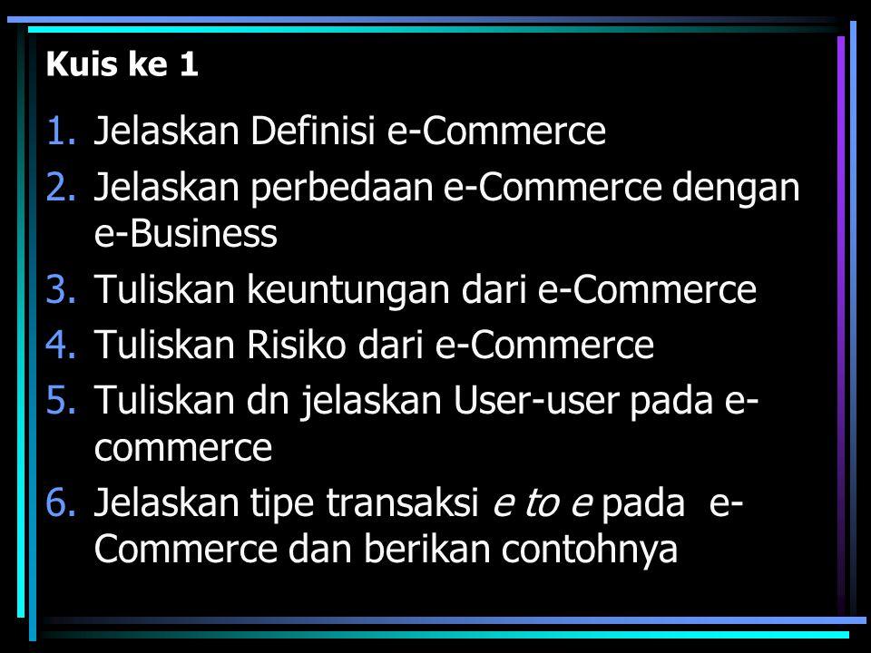 Jelaskan Definisi e-Commerce