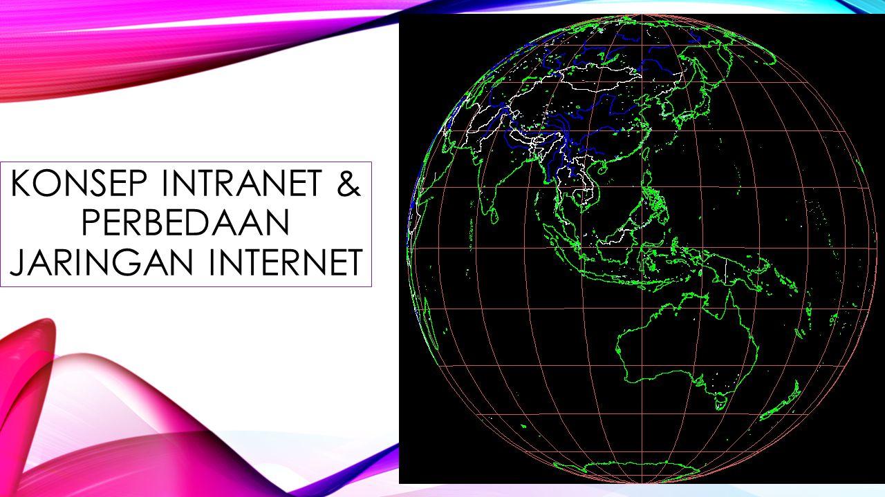 KONSEP INTRANET & PERBEDAAN JARINGAN INTERNET
