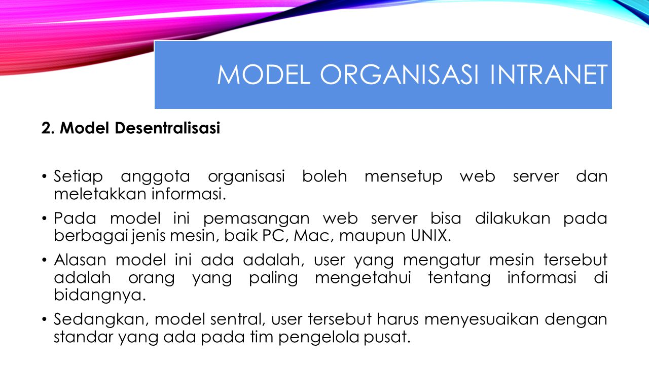 Model organisasi intranet