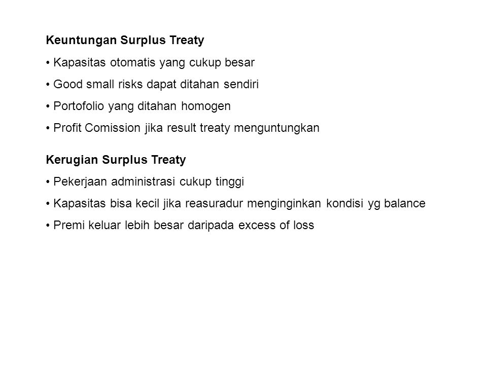 Keuntungan Surplus Treaty
