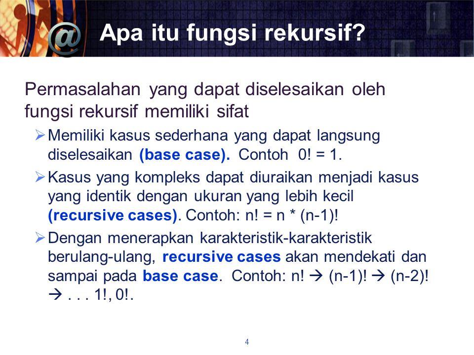 Apa itu fungsi rekursif