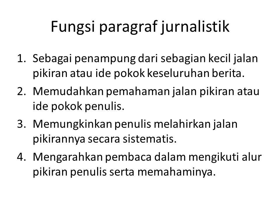 Fungsi paragraf jurnalistik