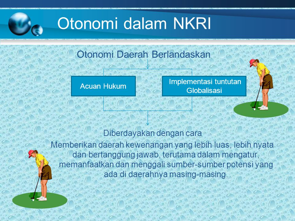 Otonomi dalam NKRI Otonomi Daerah Berlandaskan