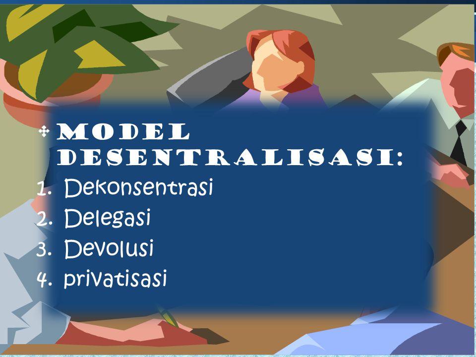MODEL DESENTRALISASI: