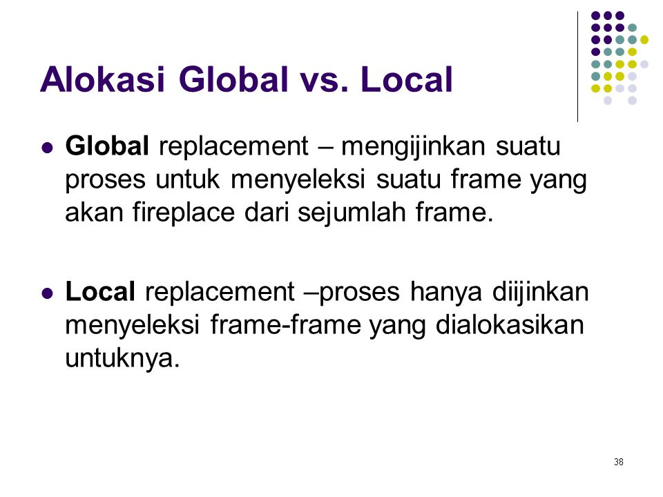 Alokasi Global vs. Local