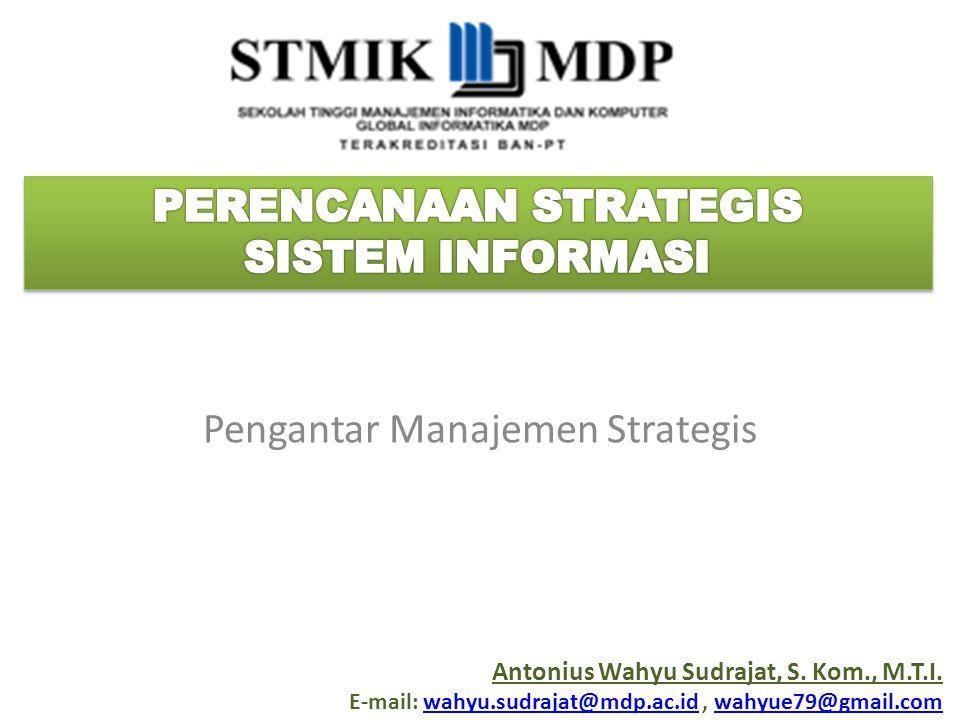 Pengantar Manajemen Strategis