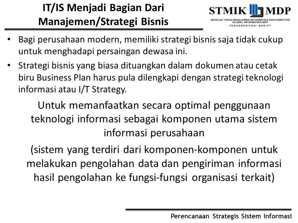 IT/IS Menjadi Bagian Dari Manajemen/Strategi Bisnis