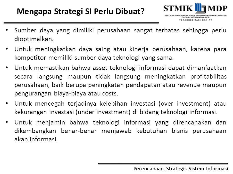 Mengapa Strategi SI Perlu Dibuat