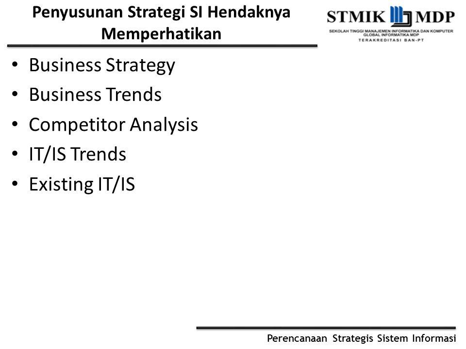 Penyusunan Strategi SI Hendaknya Memperhatikan