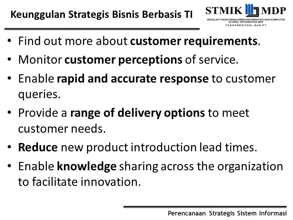 Keunggulan Strategis Bisnis Berbasis TI