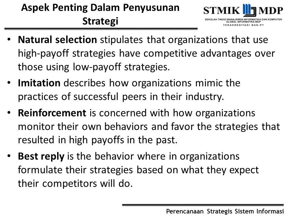 Aspek Penting Dalam Penyusunan Strategi