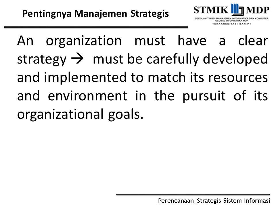 Pentingnya Manajemen Strategis