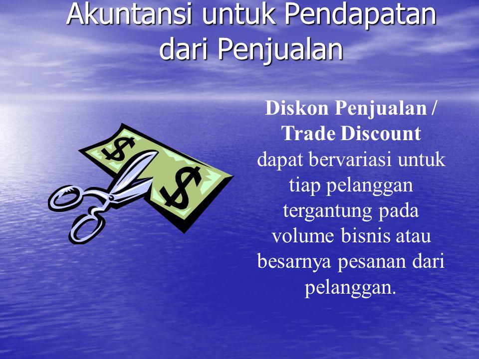 Akuntansi untuk Pendapatan dari Penjualan