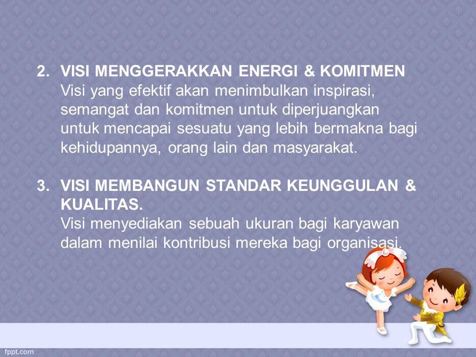 VISI MENGGERAKKAN ENERGI & KOMITMEN