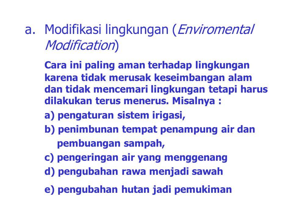 Modifikasi lingkungan (Enviromental Modification)
