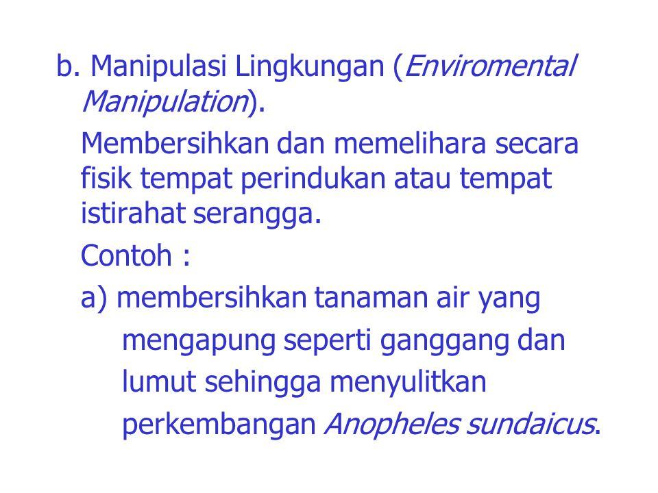 b. Manipulasi Lingkungan (Enviromental Manipulation)
