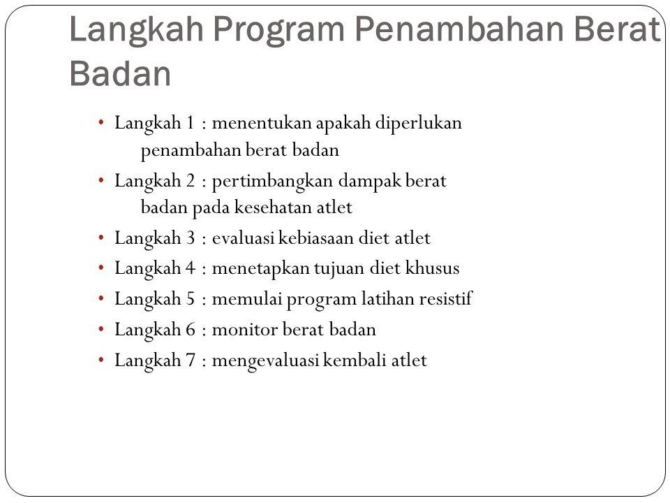 Langkah Program Penambahan Berat Badan