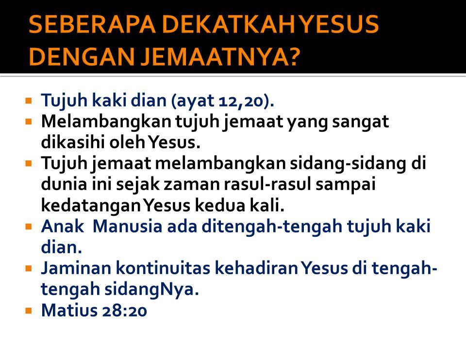 SEBERAPA DEKATKAH YESUS DENGAN JEMAATNYA
