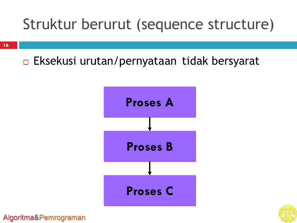 Struktur berurut (sequence structure)