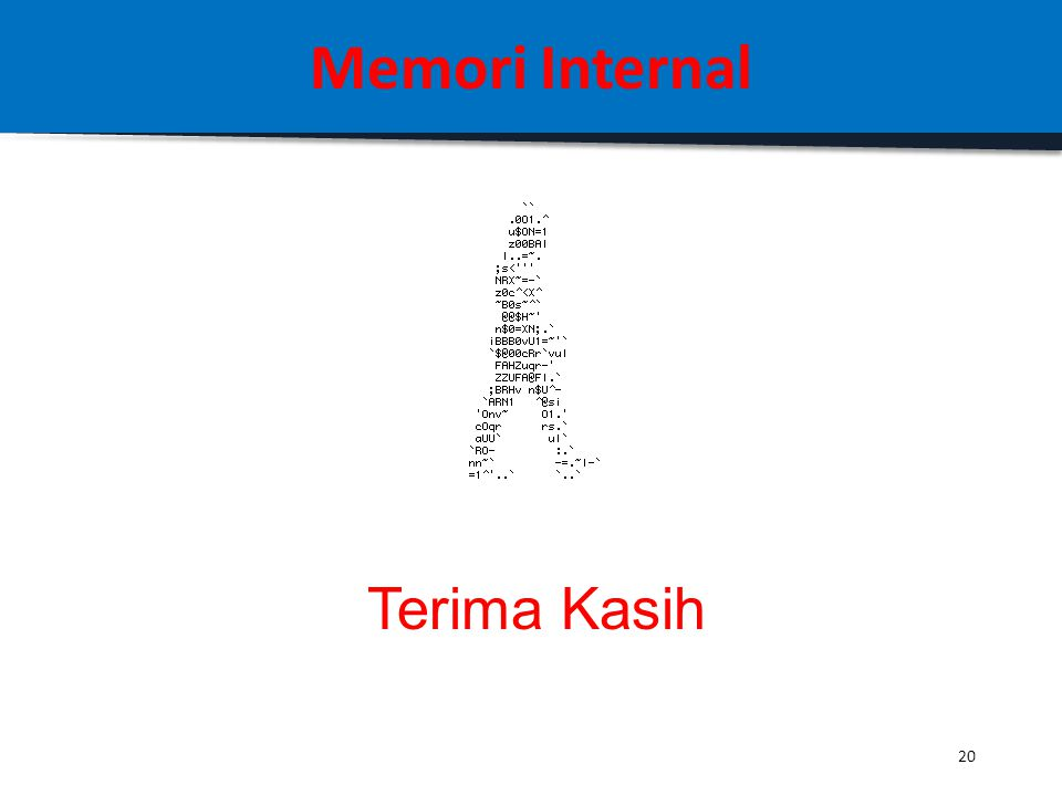 Memori Internal Terima Kasih 20