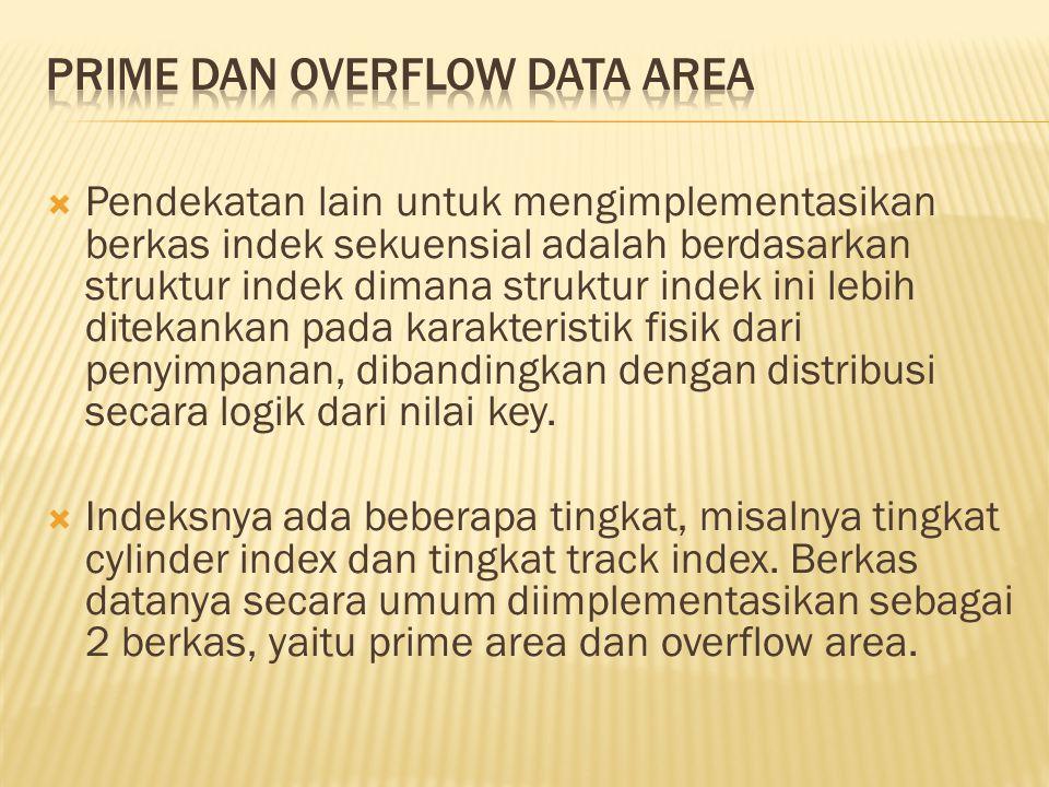 PRIME DAN OVERFLOW DATA AREA