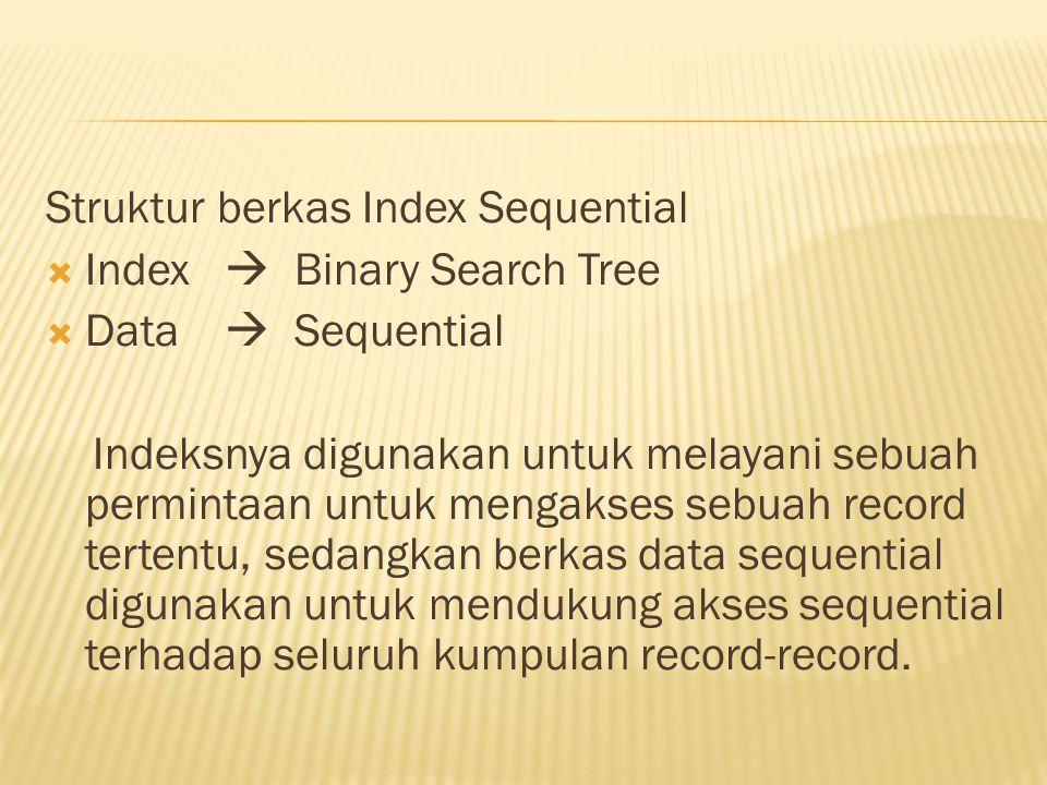 Struktur berkas Index Sequential