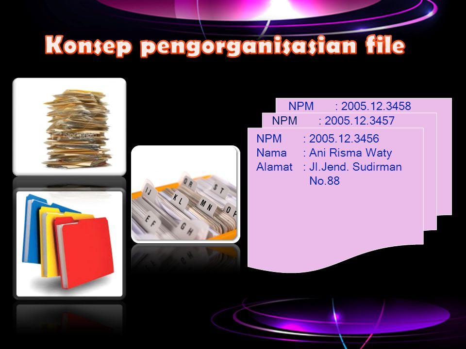 Konsep pengorganisasian file