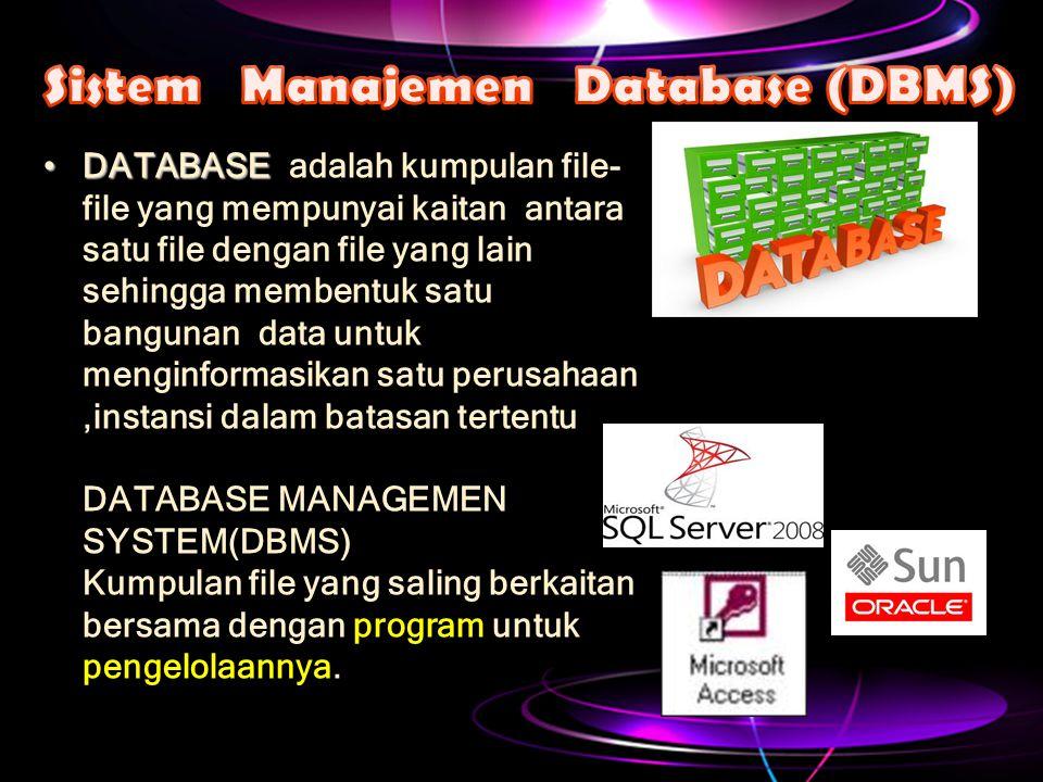 Sistem Manajemen Database (DBMS)