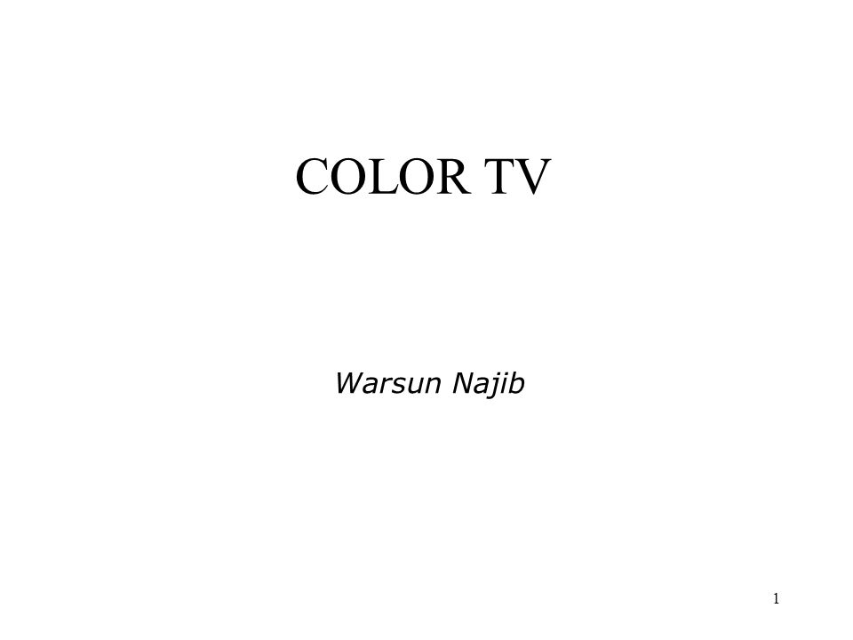 COLOR TV Warsun Najib