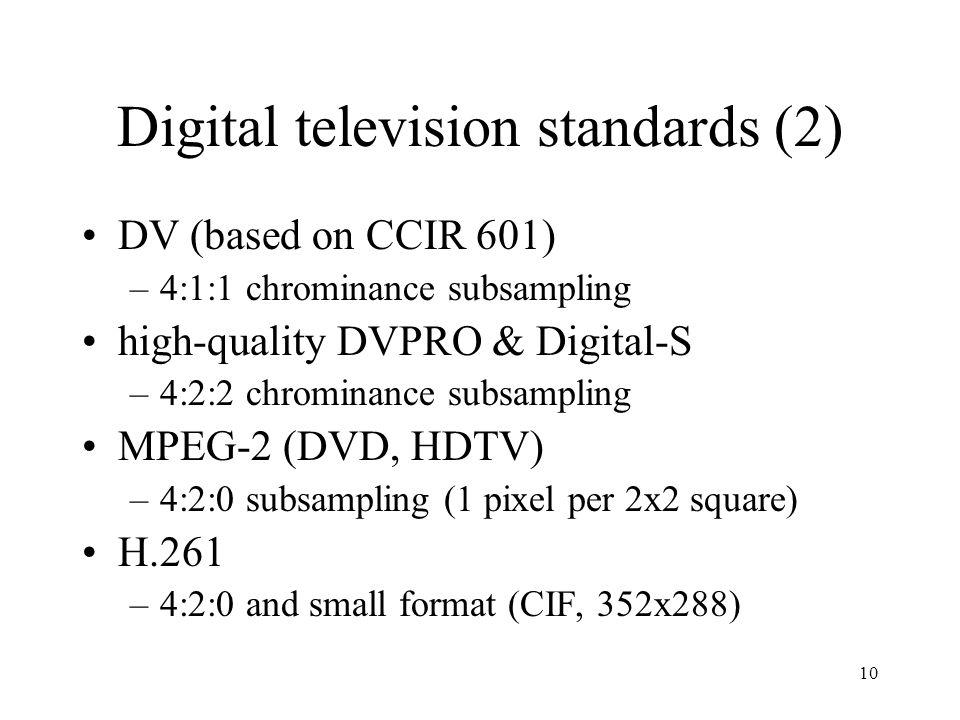 Digital television standards (2)