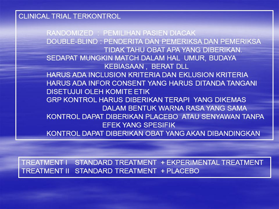 CLINICAL TRIAL TERKONTROL