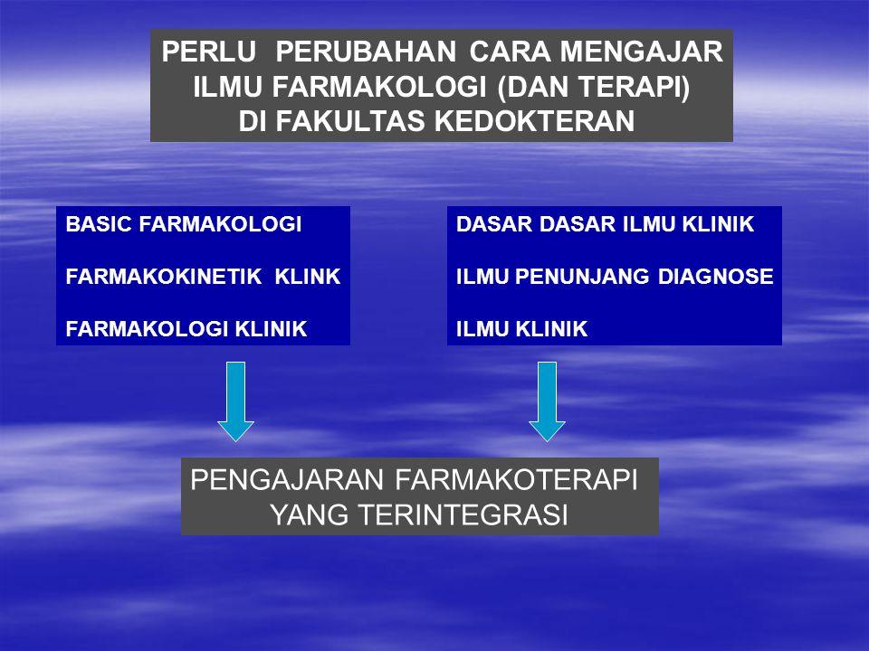 PERLU PERUBAHAN CARA MENGAJAR ILMU FARMAKOLOGI (DAN TERAPI)