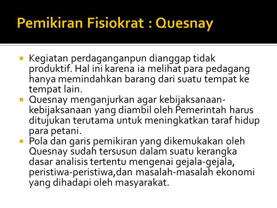 Pemikiran Fisiokrat : Quesnay