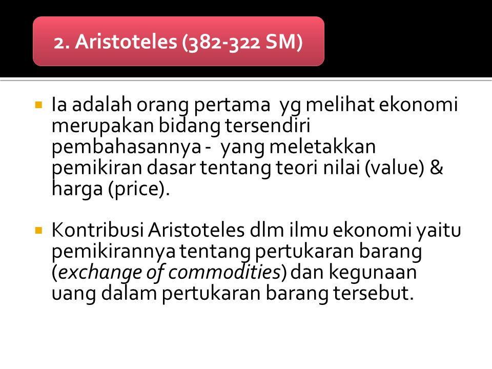 2. Aristoteles (382-322 SM)