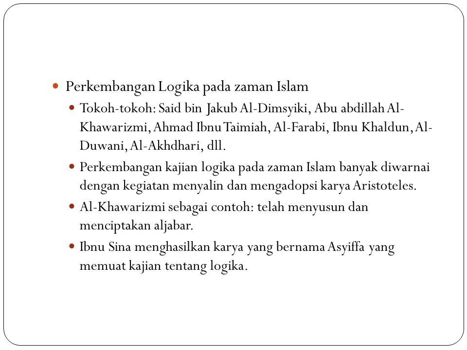 Perkembangan Logika pada zaman Islam