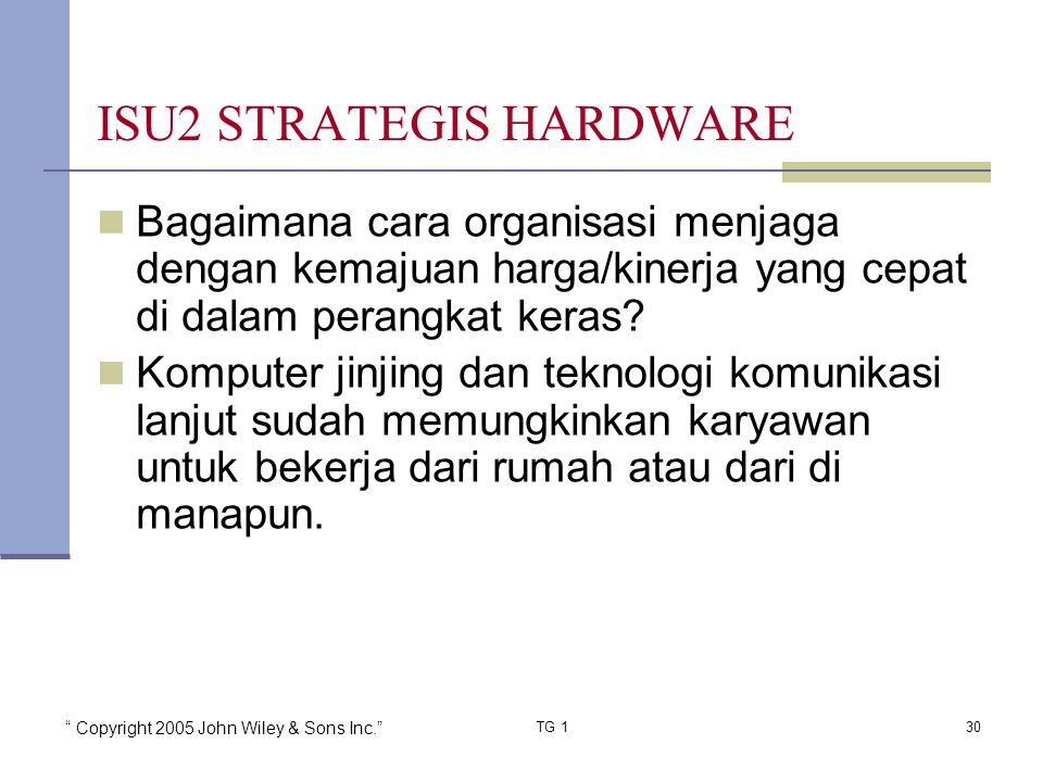 ISU2 STRATEGIS HARDWARE