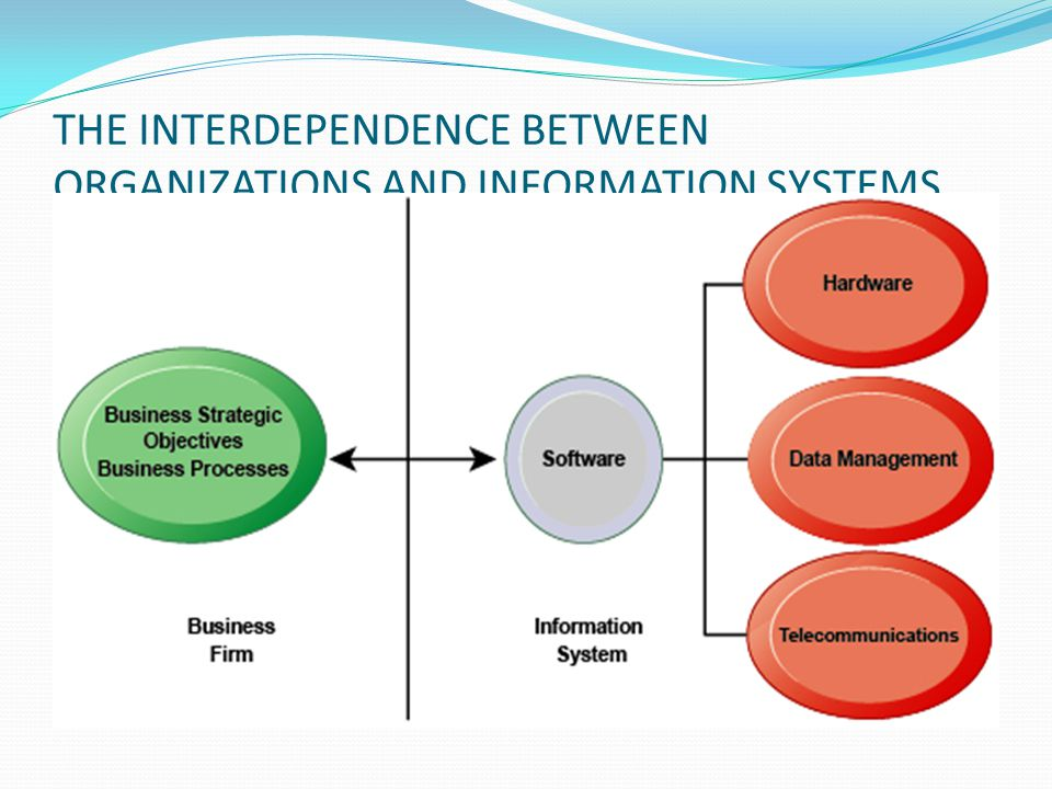 THE INTERDEPENDENCE BETWEEN ORGANIZATIONS AND INFORMATION SYSTEMS