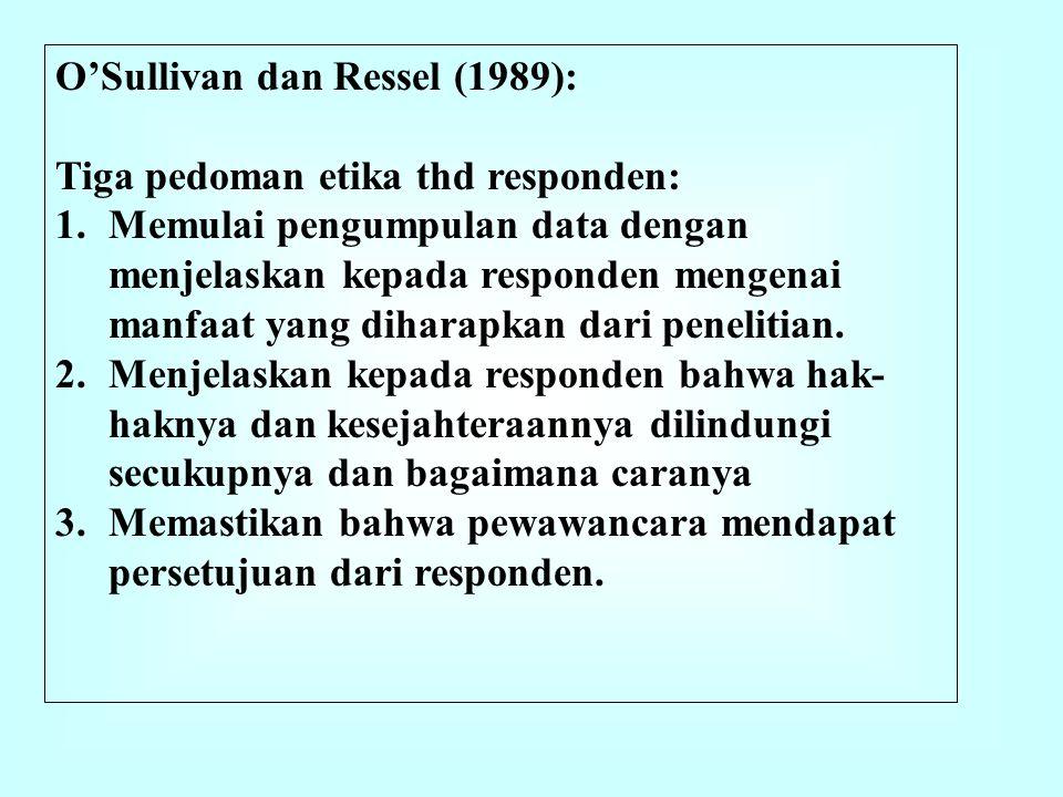 O'Sullivan dan Ressel (1989):