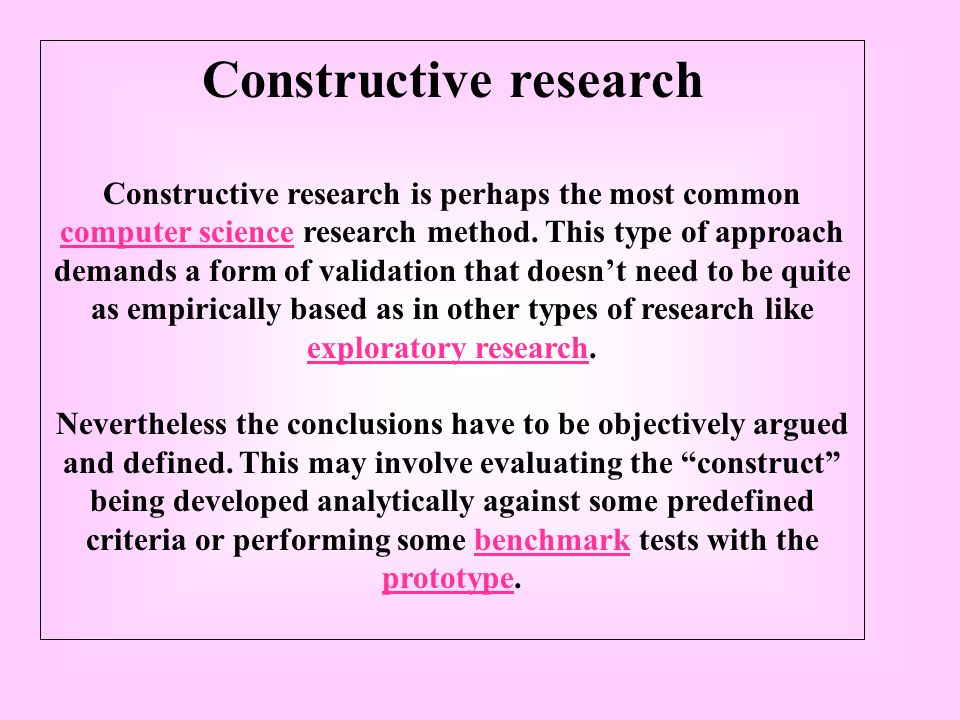 Constructive research