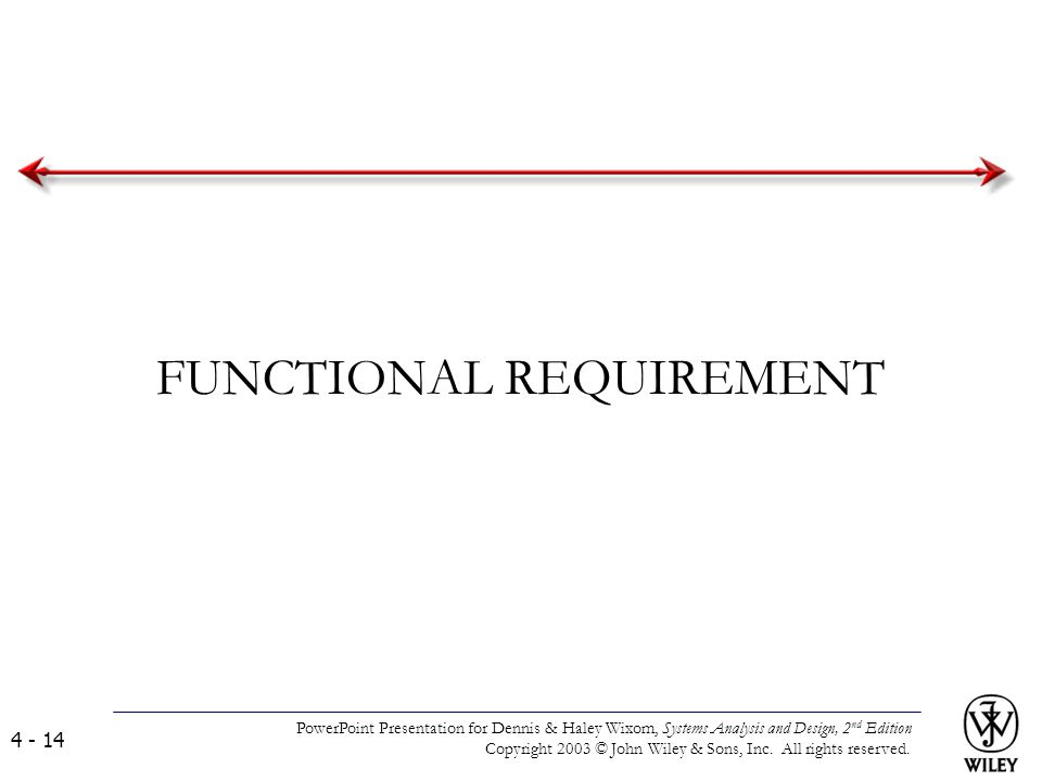 FUNCTIONAL REQUIREMENT