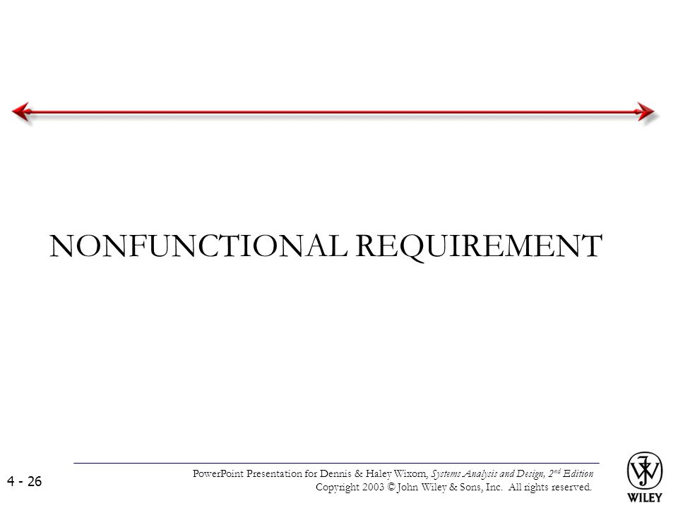 NONFUNCTIONAL REQUIREMENT